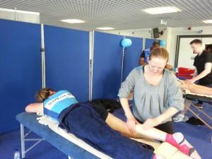 Lovely light leg massage for the well deserving runners....